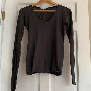 James Perse L/S v neck t- shirt Size 2